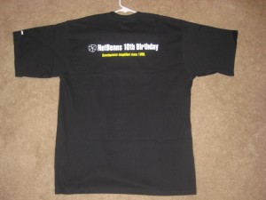 NetBeans 10th Anniversary T-Shirt: Back