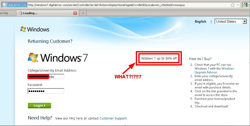 Sloppy typo on Windows 7 landing page